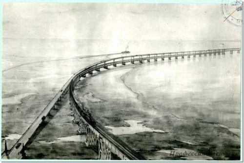 Керченский мост по проекту 1949 года